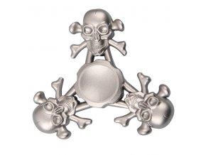 KG Fidget Hand Spinner Skull Silver