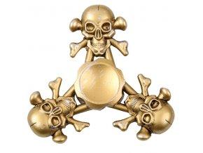 KG Fidget Hand Spinner Skull Gold