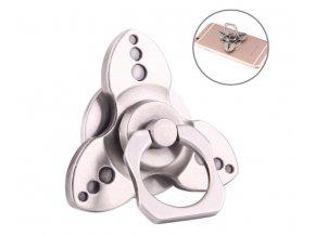 KG Fidget Hand Spinner Ring Silver