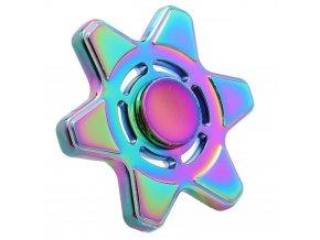 KG Fidget Hand Spinner (1014) Rainbow Hexagram