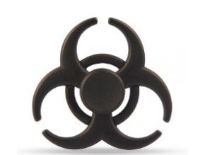 KG Fidget Hand Spinner Biohazard Black