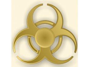 KG Fidget Hand Spinner Biohazard Gold