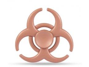 KG Fidget Hand Spinner Biohazard Rose Gold