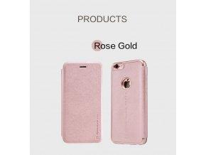 Pouzdro Nillkin Sparkle Apple iPhone 6/6S Rose gold