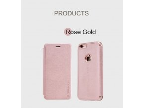 Pouzdro Nillkin Sparkle Apple iPhone 6/6S Rose gold