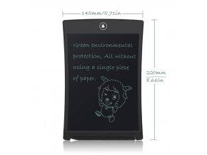 """Poznámková tabulka Writing board 12"""" Black"""