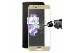 KG tvrzené sklo pro ochranu displeje OnePlus 5 - Gold