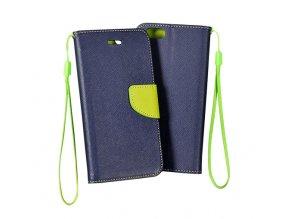 KG pouzdro Wallet Style pro Huawei Ascend G8 Navy Blue