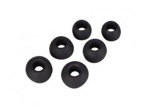 Náhradní špunty ke sluchátkům, 6ks Black