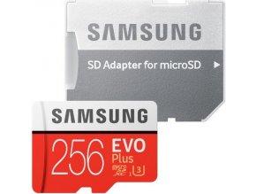 Samsung microSDXC karta 256GB EVO Plus + adaptér MB-MC256GA/EU
