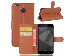 Flipové pouzdro pro Huawei Honor 4X | WALLET | Brown