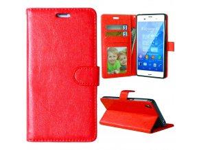 Flipové pouzdro pro Sony Xperia Z3   WALLET   Red