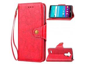 Flipové pouzdro pro LG G4   WALLET   Red