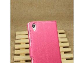 Flipové pouzdro pro Sony Xperia Z1   WALLET   Pink