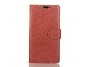 Flipové pouzdro pro LG X Power 2   WALLET   Brown