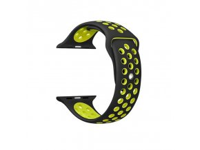 Apple Watch náhradní náramek 42mm Sport Black/Green