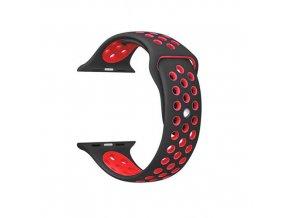 Apple Watch náhradní náramek 42mm Sport Black/Red