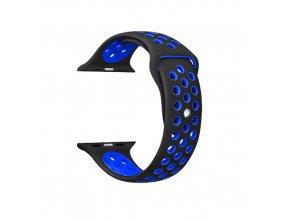 Apple Watch náhradní náramek 42mm Sport Black/Blue