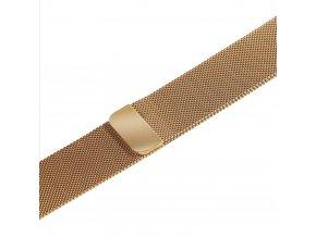 Apple Watch náhradní náramek 42mm Milánský tah Gold