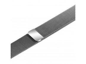 Apple Watch náhradní náramek 42mm Milánský tah Silver
