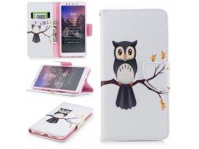 Flipové pouzdro pro Xiaomi Redmi 5 | WALLET | Owl