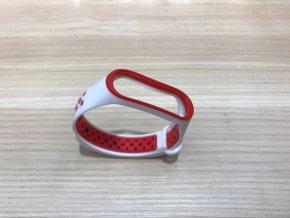 Xiaomi MiBand 3 / MiBand 4  sportovní  náhradní náramek | White/Red