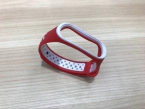 Xiaomi MiBand 3 / MiBand 4  sportovní  náhradní náramek | Red/White