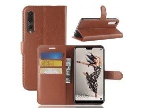 Flipové pouzdro pro Huawei P20 Pro | WALLET | Brown