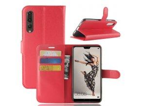 Flipové pouzdro pro Huawei P20 Pro | WALLET | Red