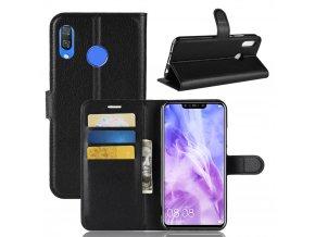 Flipové pouzdro pro Huawei Nova 3 | WALLET | Black
