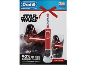 Oral-B Vitality KIDS Star Wars dětský elektrický kartáček s plastovým kelímkem