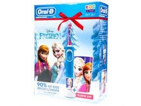 Oral-B Vitality KIDS Frozen dětský elektrický kartáček s plastovým kelímkem