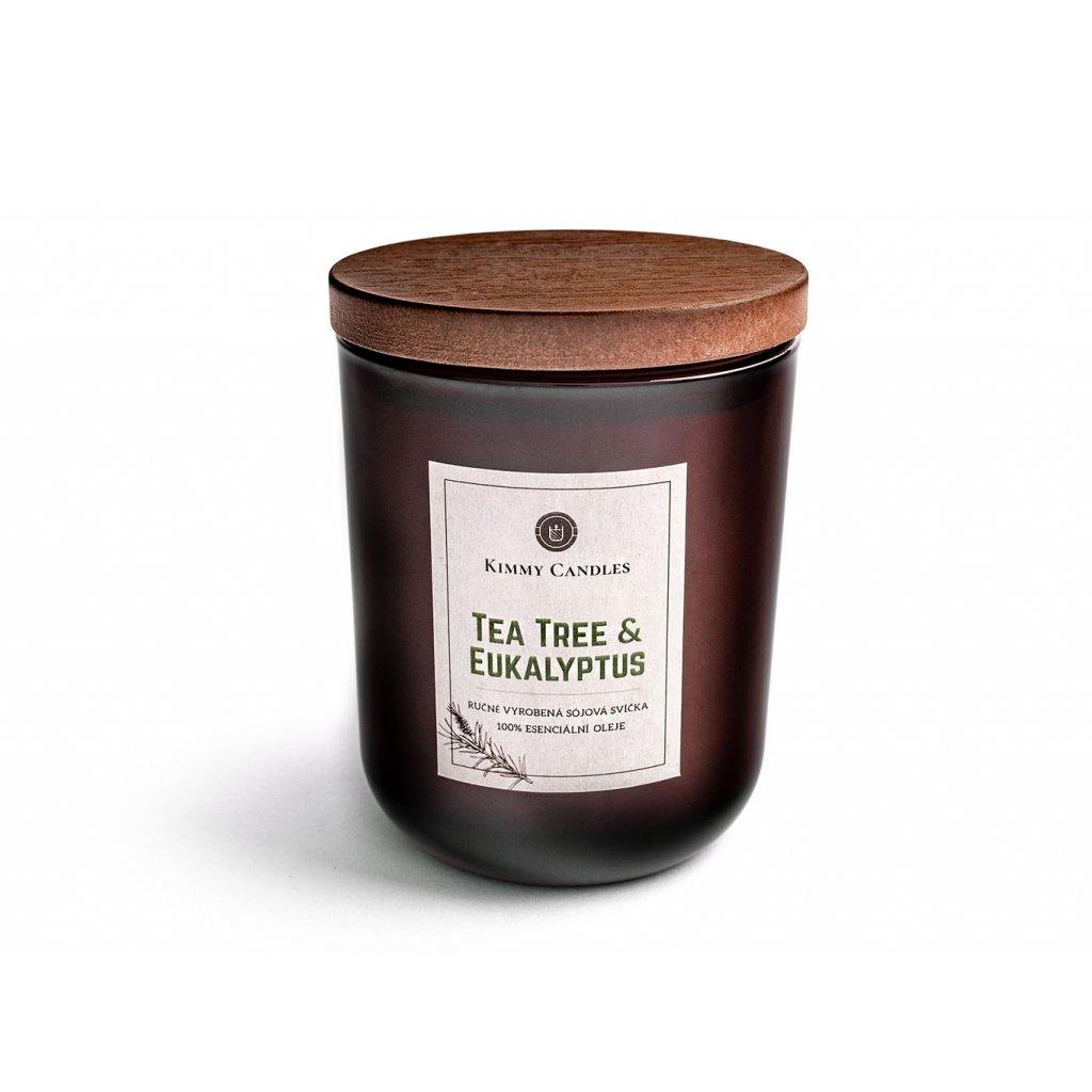 prirodni sojova svicka tea tree a eukalyptus s vickem