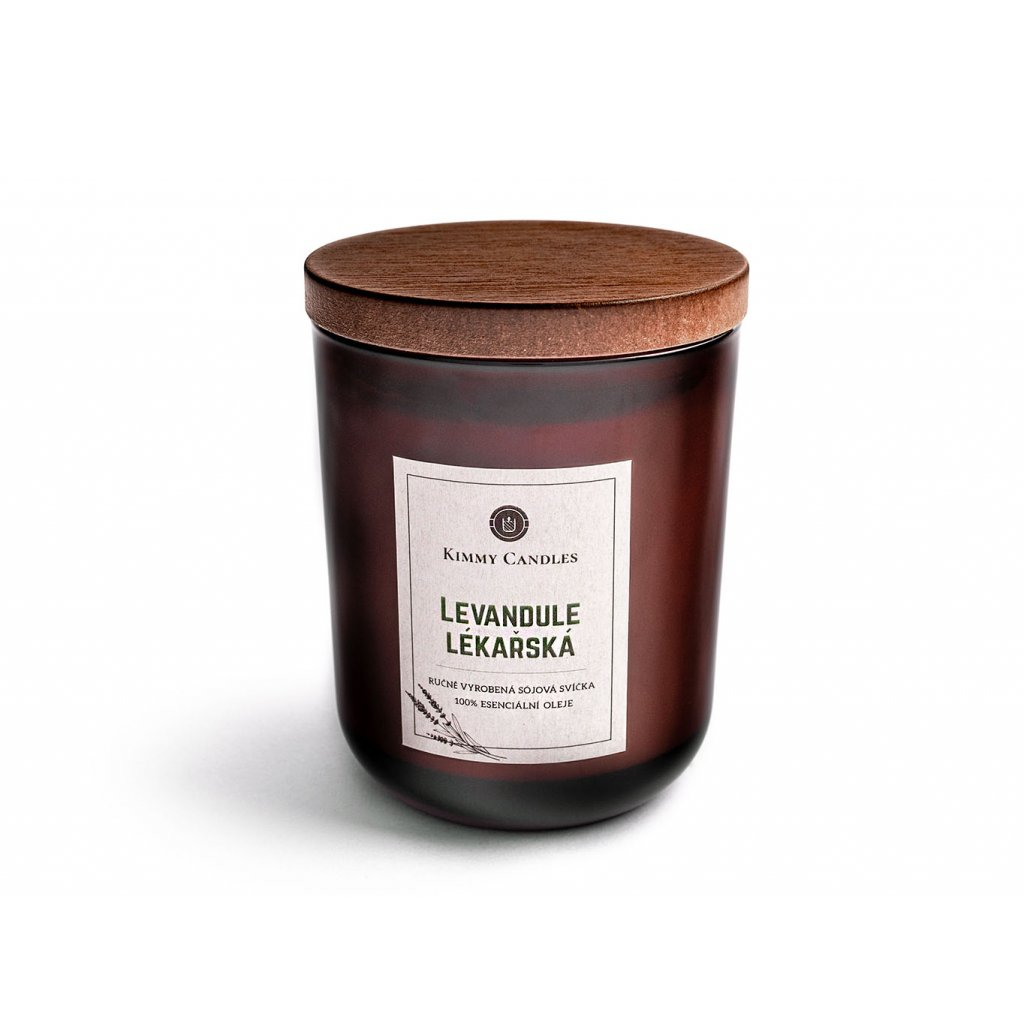 přírodní sójová svíčka levandule lekarska s víčkem