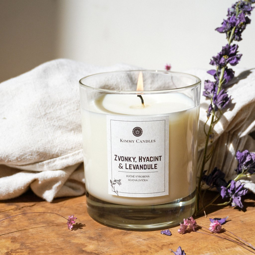 sojova svicka zvonky hyacint a levandule kimmy candles