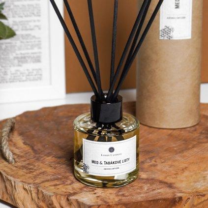 kimmy candles aroma difuzér med a tabakove listy