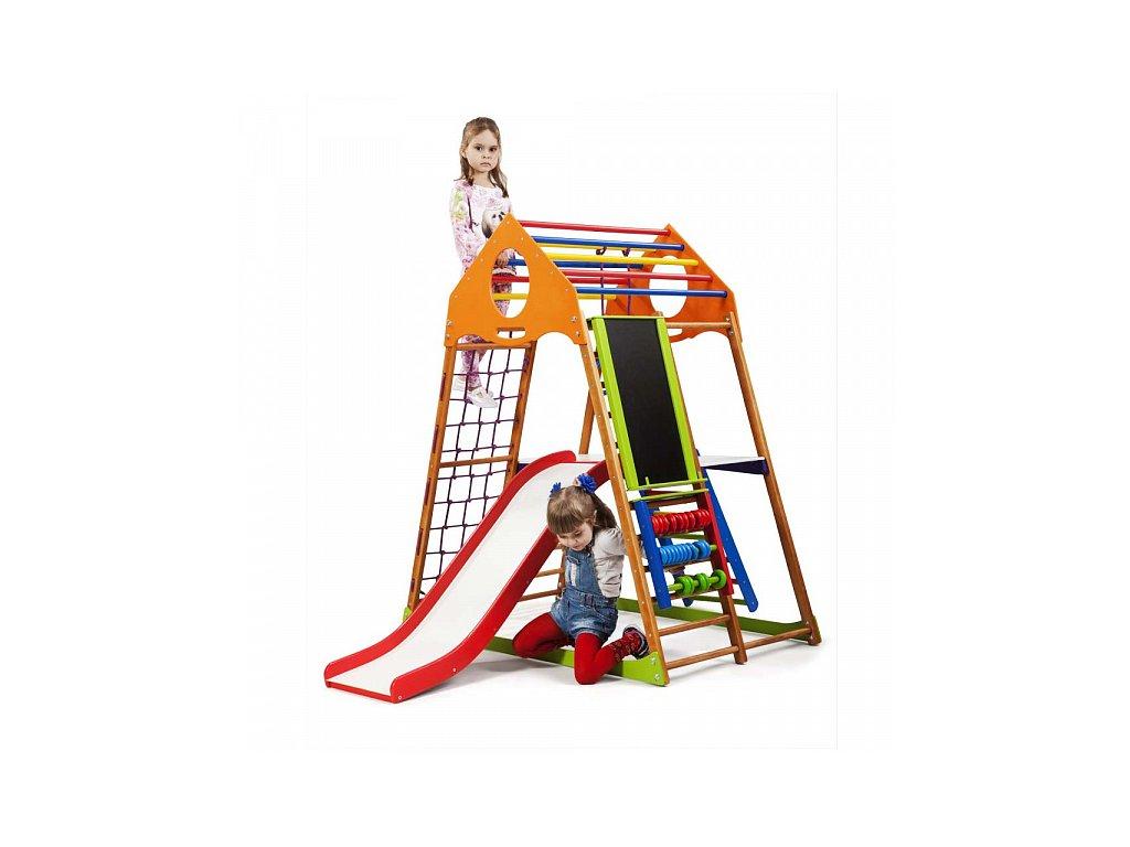 KinderSport hrací sestava RocketPlus3 s ribstole a se skluzavkou