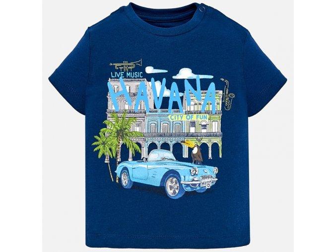 Tričko s krátkým rukávem HAVANA tmavě modré BABY Mayoral