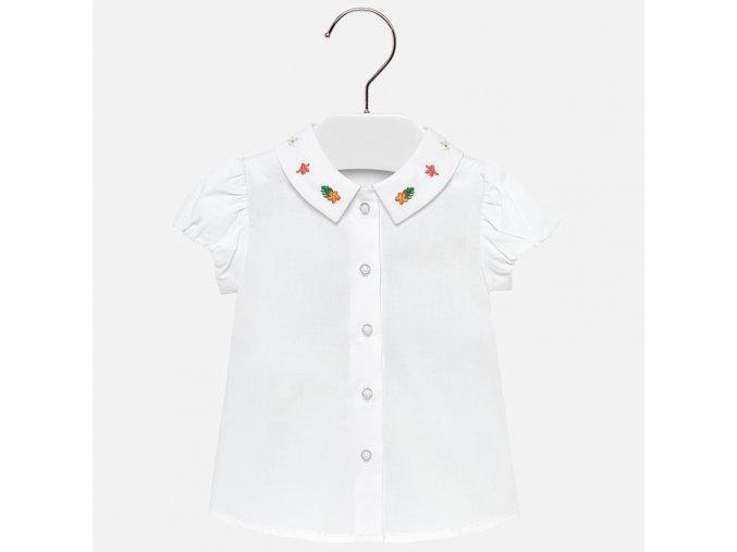 Košile s krátkým rukávem květinky bílá BABY Mayoral