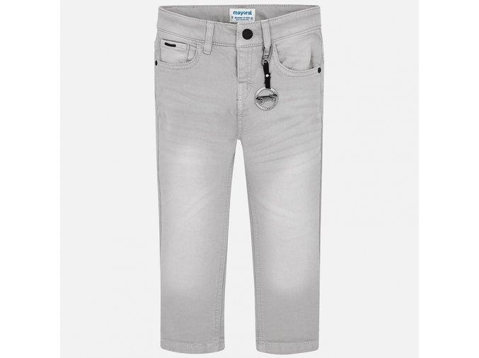 Kalhoty s přívěškem SKATE šedé MINI Mayoral
