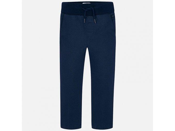 Kalhoty se vzorem tmavě modré MINI Mayoral