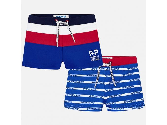Plavky s nohavičkou pruhy modré MINI Mayoral