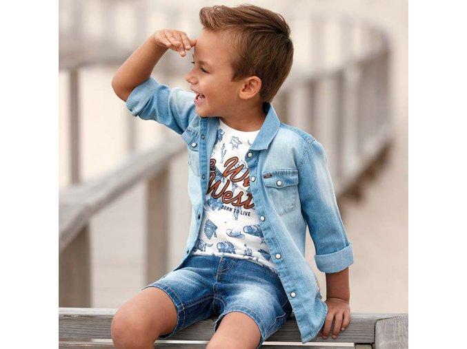 Košile s dlouhým rukávem riflová WESTERN MINI Mayoral