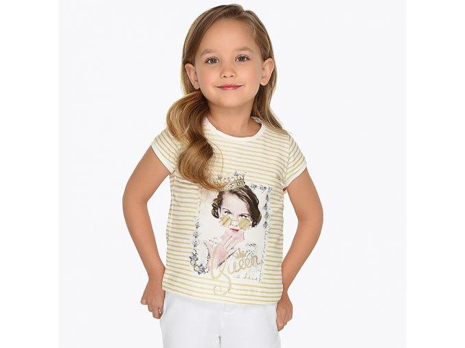 Tričko s krátkým rukávem Queen zlaté MINI Mayoral