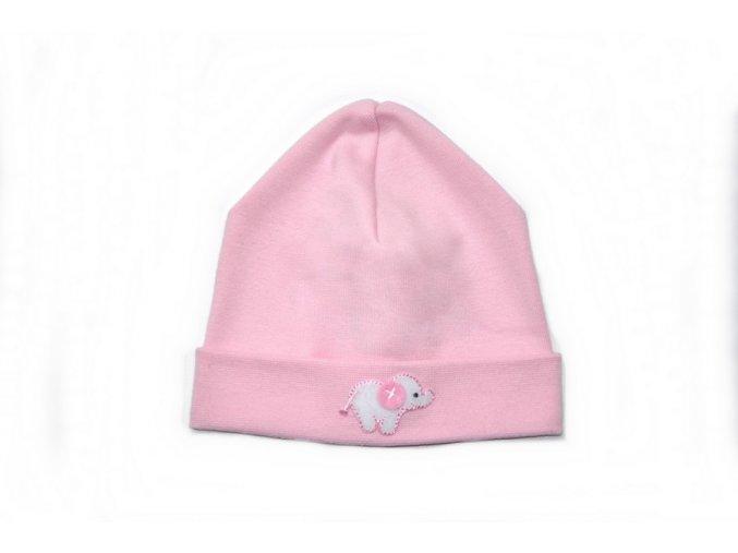 Kojenecká čepice - růžová