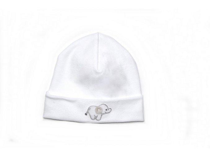 Kojenecká čepice - bílá