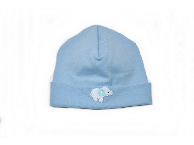 Kojenecká čepice - sv.modrá