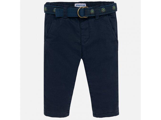 Kalhoty zateplené s páskem tmavě modré BABY Mayoral