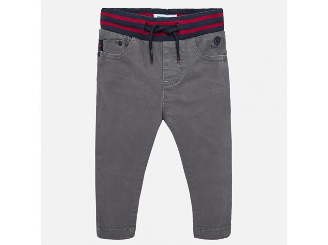Kalhoty natahovací šedé BABY Mayoral