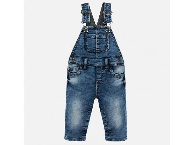 Kalhoty s laclem riflové modré BABY Mayoral
